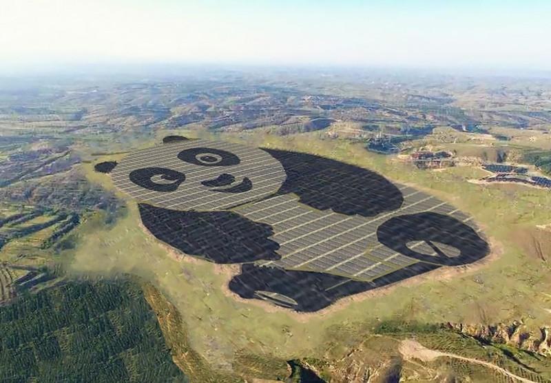 В «Поднебесной» начала работать солнечная электростанция вформе панды