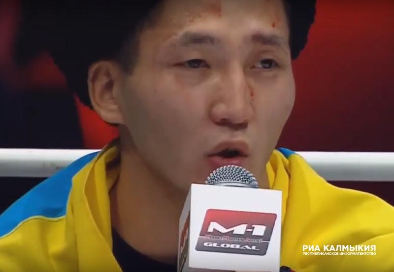 Калмыцкий боец Баир Штепин победил своего соперника всего за полраунда
